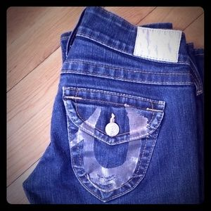 True Religion Low Rise Straight Leg